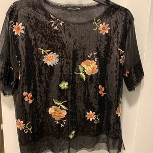 Zara sequined top